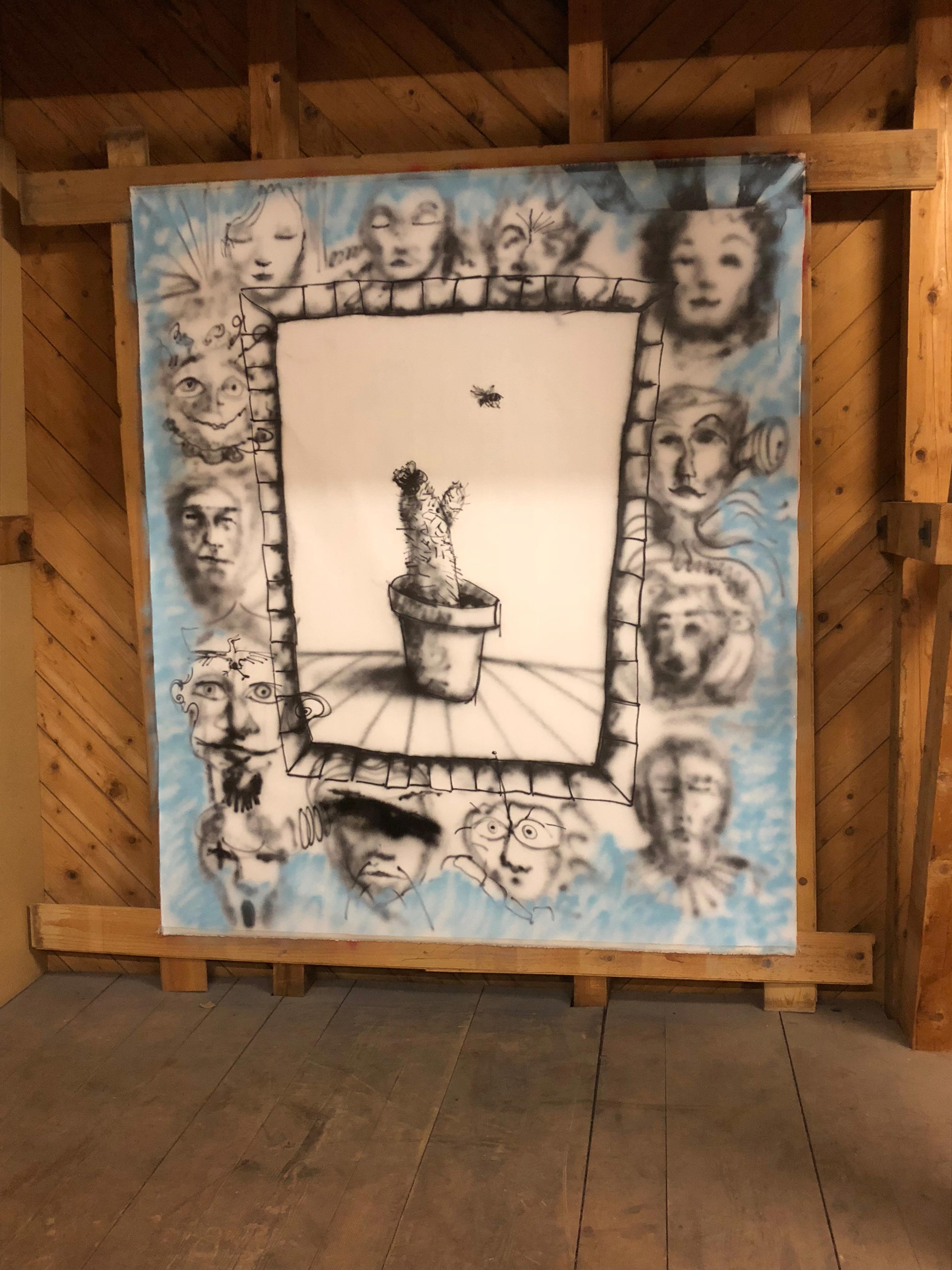 Stefan Inauen #window 2018 Lack auf Leinwand 215cm x 190cm
